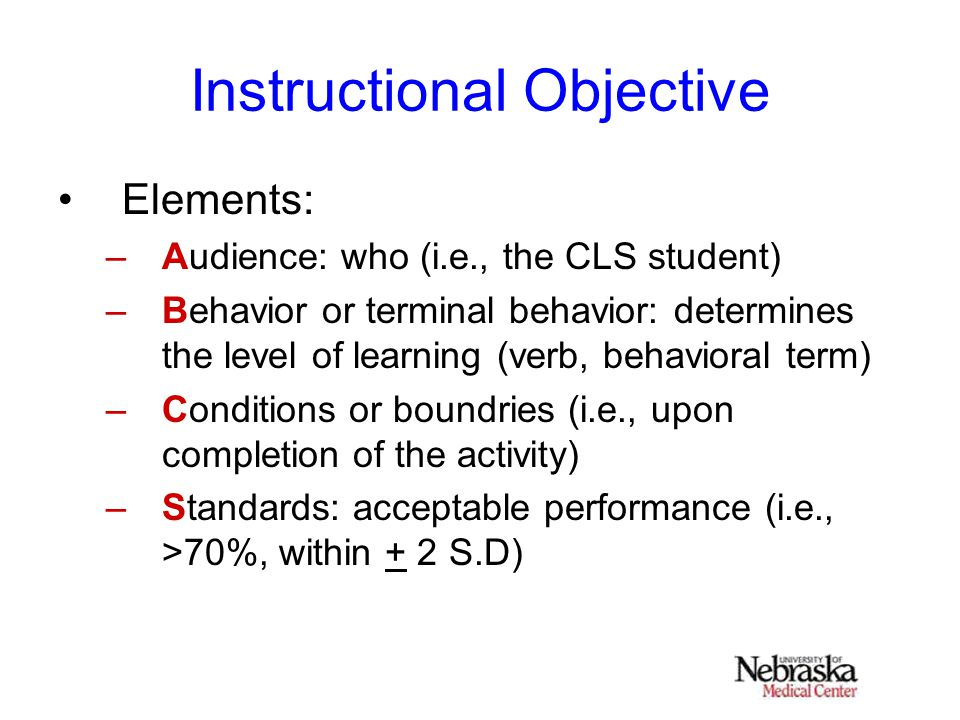 "instructional objectives What are instructional objectives it's easy to confuse outcomes with objectives they both start with the letter ""o,"" and people have a tendency to use them interchangeably."