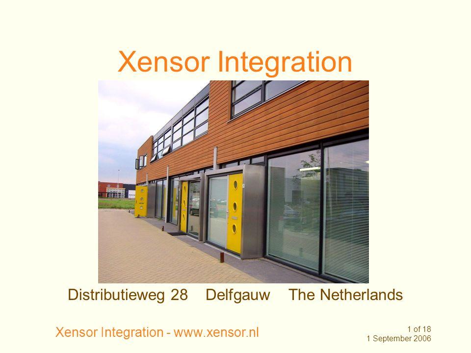 Xensor Integration Distributieweg 28 Delfgauw The Netherlands