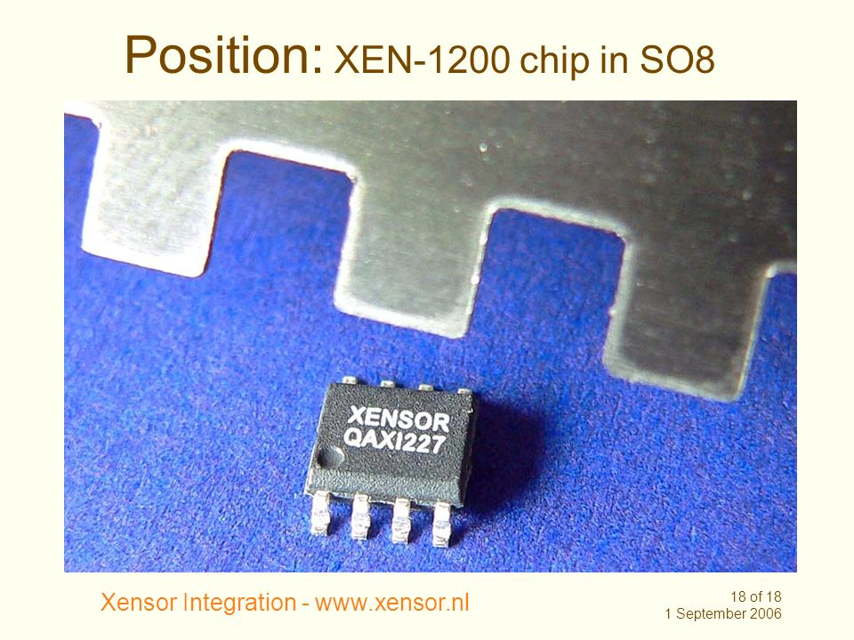 Position: XEN-1200 chip in SO8