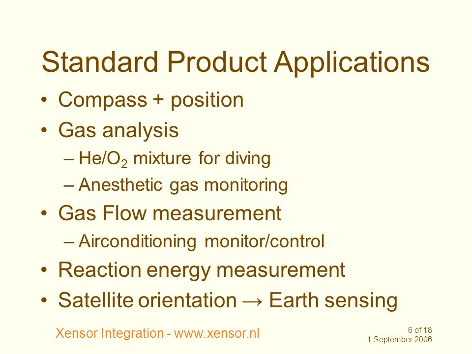 Standard Product Applications