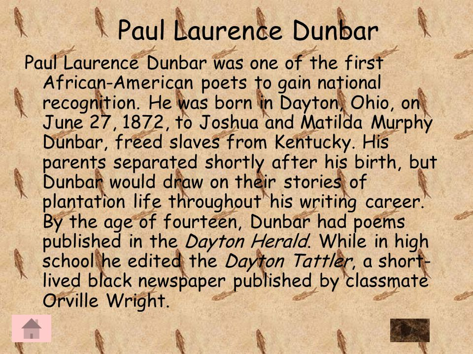account of the life and writings of paul dunbar It looks like you've lost connection to our server please check your internet connection or reload this page.