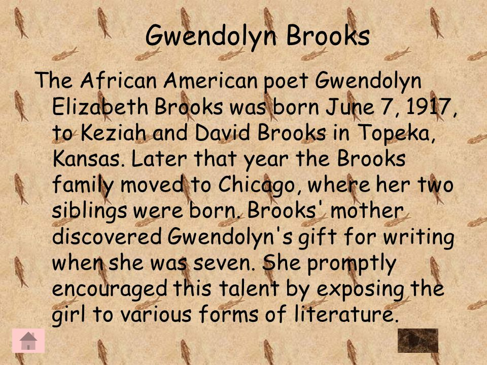 essays about a grand mother through gwendolyn brooks