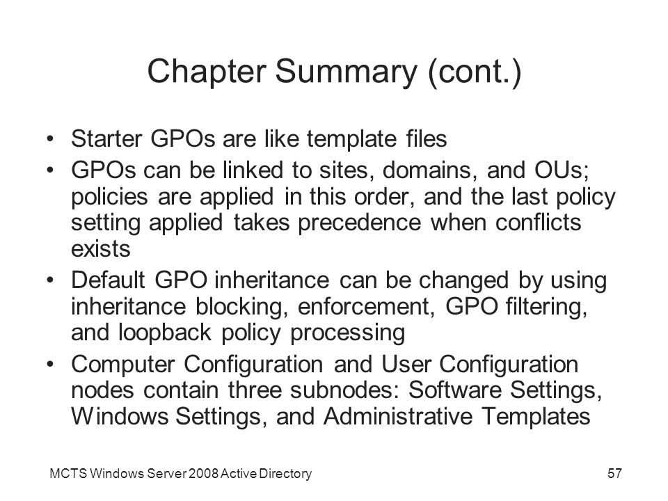 Chapter 7: Configuring Group Policy - Ppt Video Online Download
