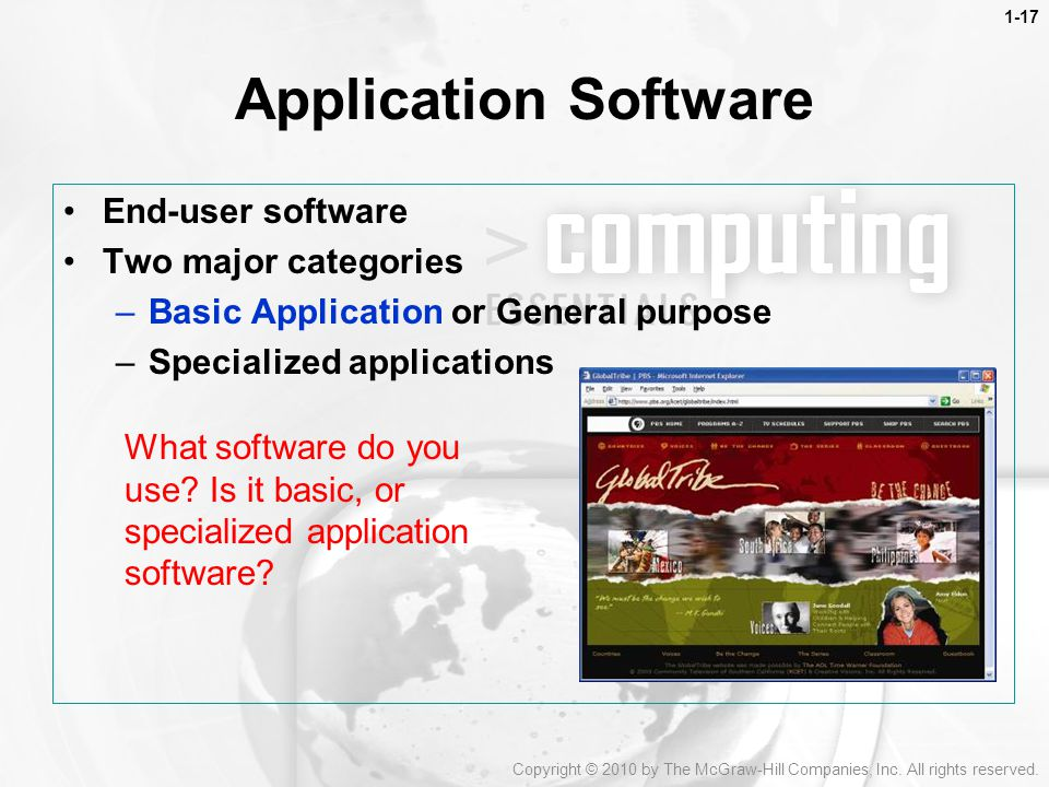 the two categories of software What are the two main types of application software many computers on the internet allow you to copy files to your computer, called downloading.