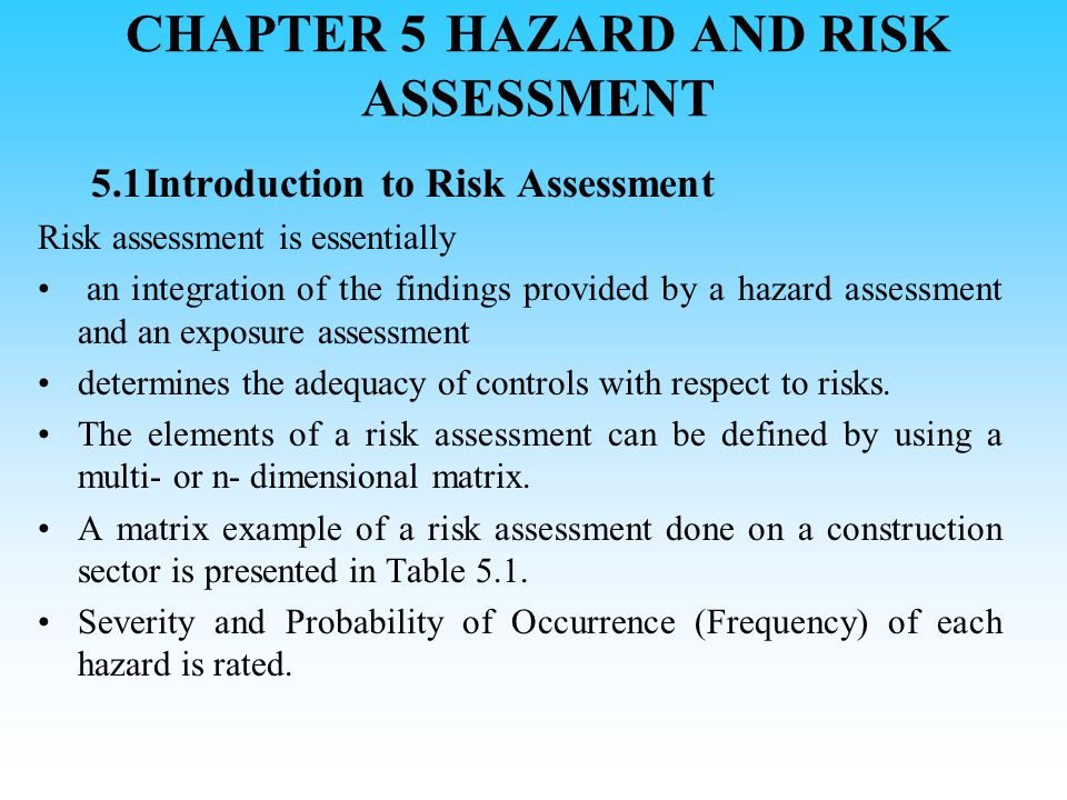 chapter 5 risk analysis case 5 Chapter - 5 portfolio analysis  in any case, given an estimate of return, the analyst is likely to think of and  the risk-return expectations for these .