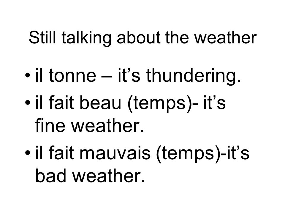 Still talking about the weather