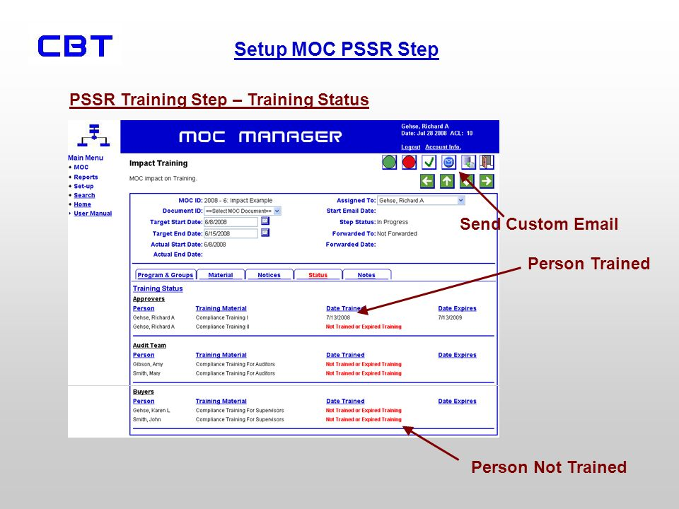 PSSR Training Step – Training Status