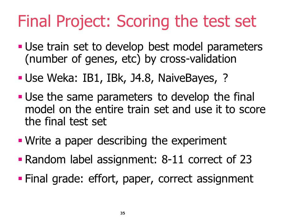 how to test a model in test data set weka