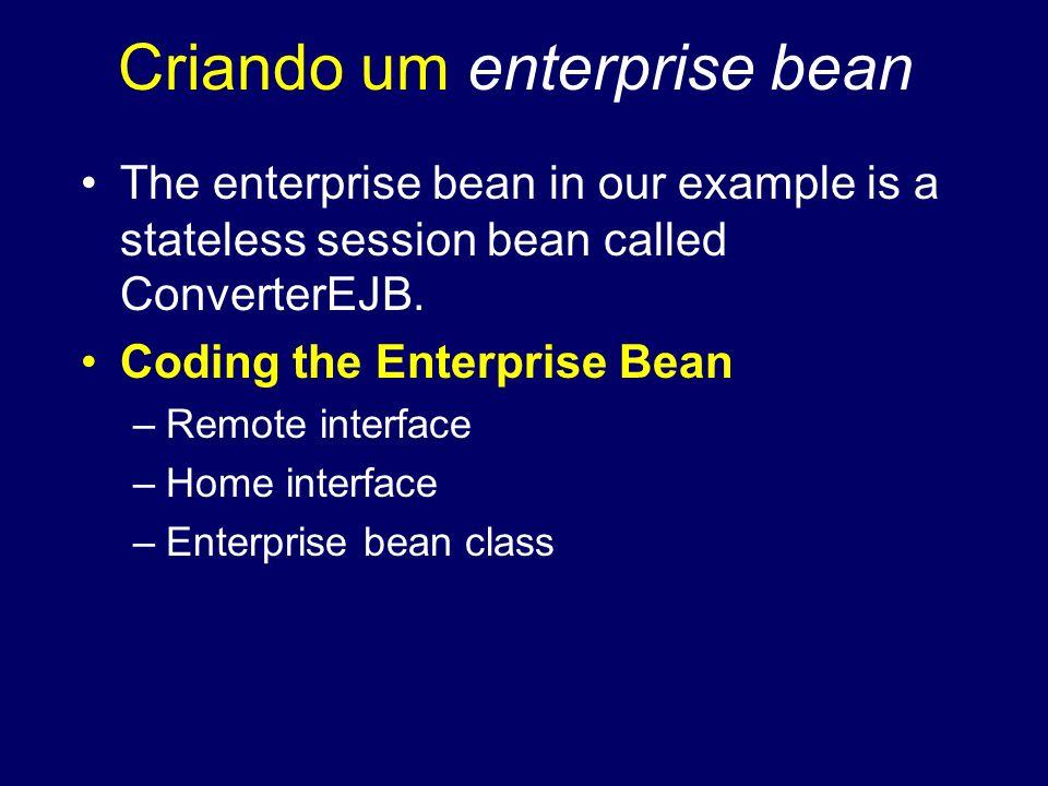 Criando um enterprise bean