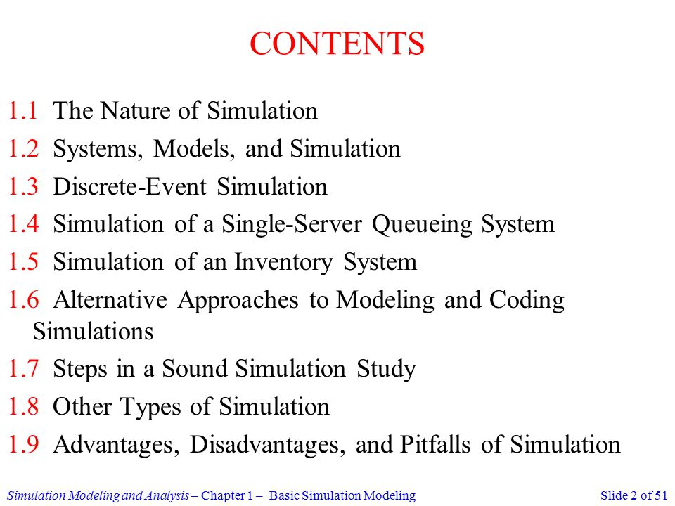 simulation modeling chapter questions Chapter 3:data analysis and simulation the widespread availability of inexpensive computing power is having a major impact on data analysis analyzing, and modeling, followed by more data gathering, analysis, and modeling the trick is really knowing when to stop 311 additional reading.