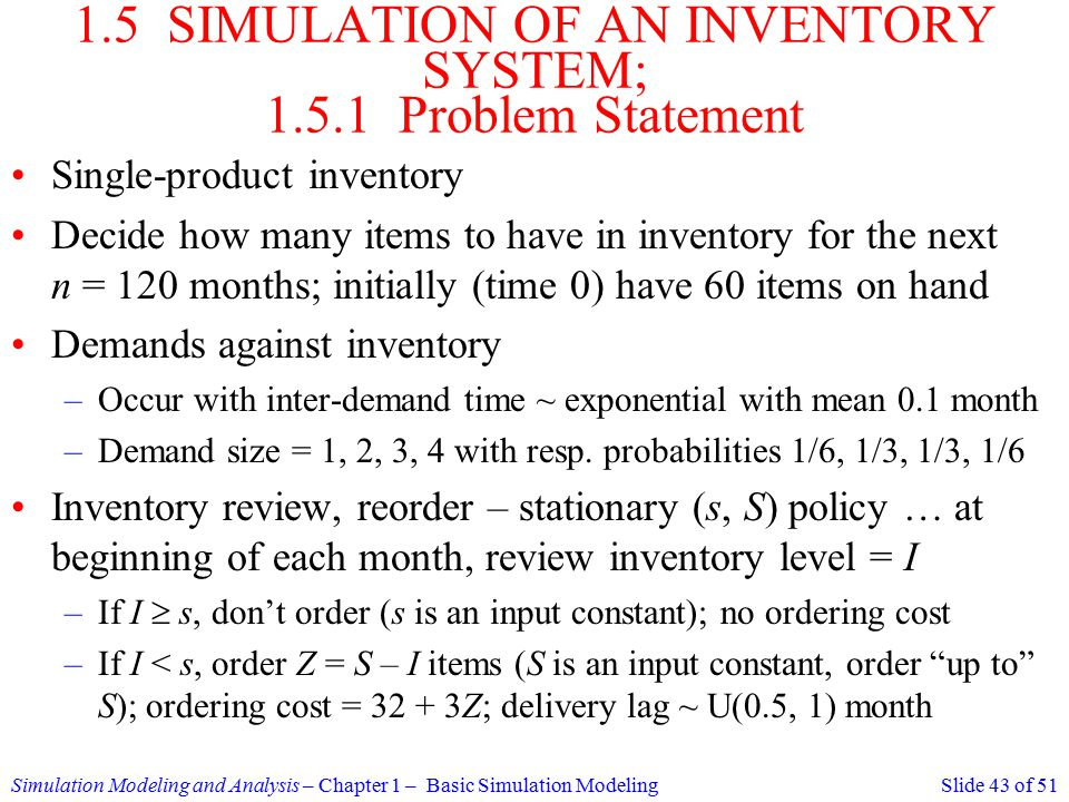 inventory system thesis statement of the problem Formulating problem statements: using audience awareness to contextualize your research goals a persuasive problem statement consists of three parts: 1) the ideal, 2) the reality, and 3) the consequences for the reader of the feasibility report.