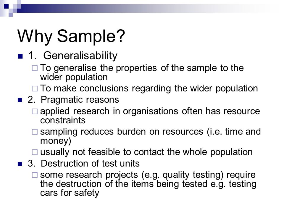 importance of sampling in research When conducting any research, it is important that you have a robust approach to  sampling to ensure you have a high degree of confidence within the data.