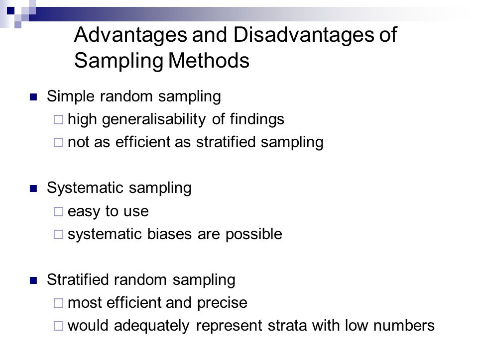 type of sampling methods in research
