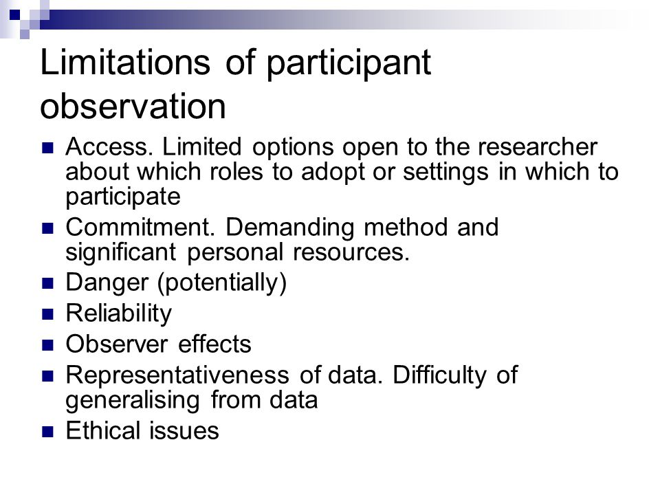 what is participant observation in qualitative research