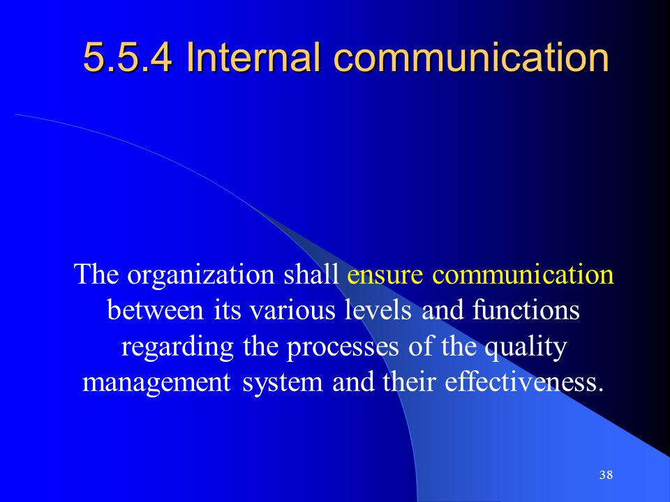 5.5.4 Internal communication