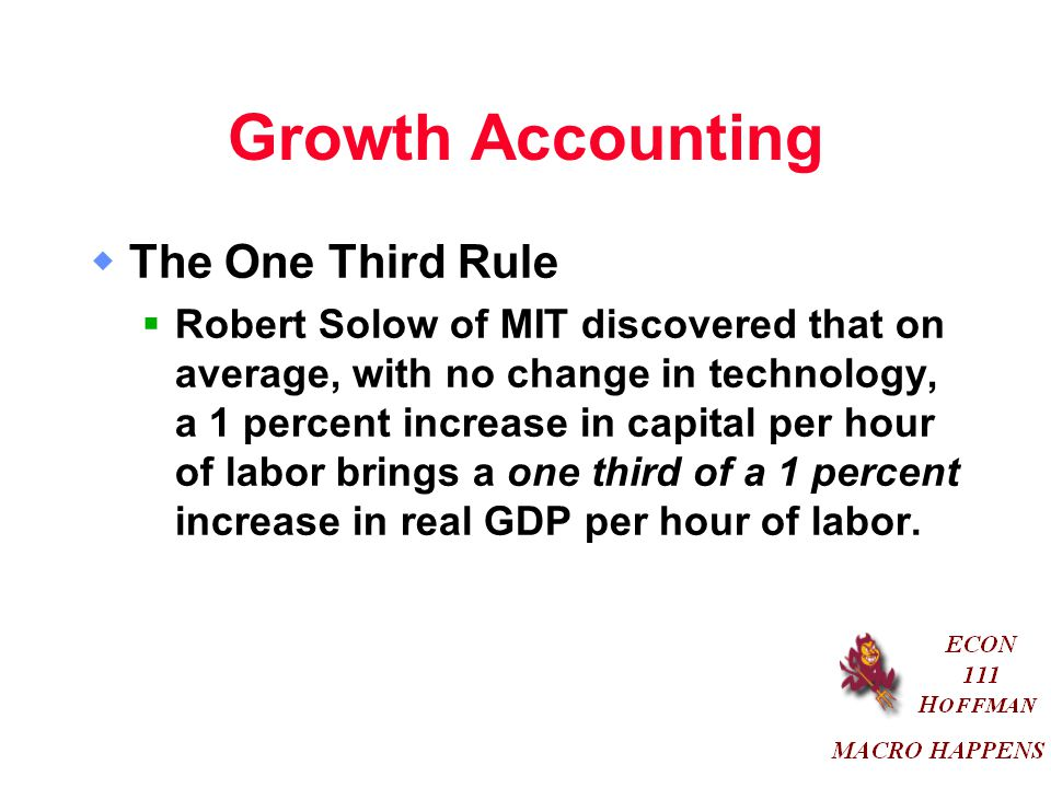 Growth Accounting The One Third Rule
