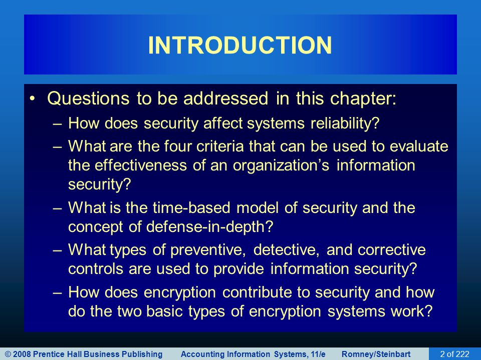 information system controls for systems reliability Information systems for business and beyond  an example of this would be when a hacker is hired to go into the university's system and change a grade  in these cases, even with proper authentication and access control, it is possible for.