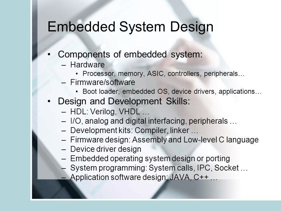 what is embedded software application