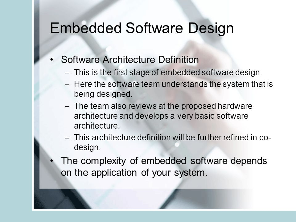 software architecture of embedded system pdf