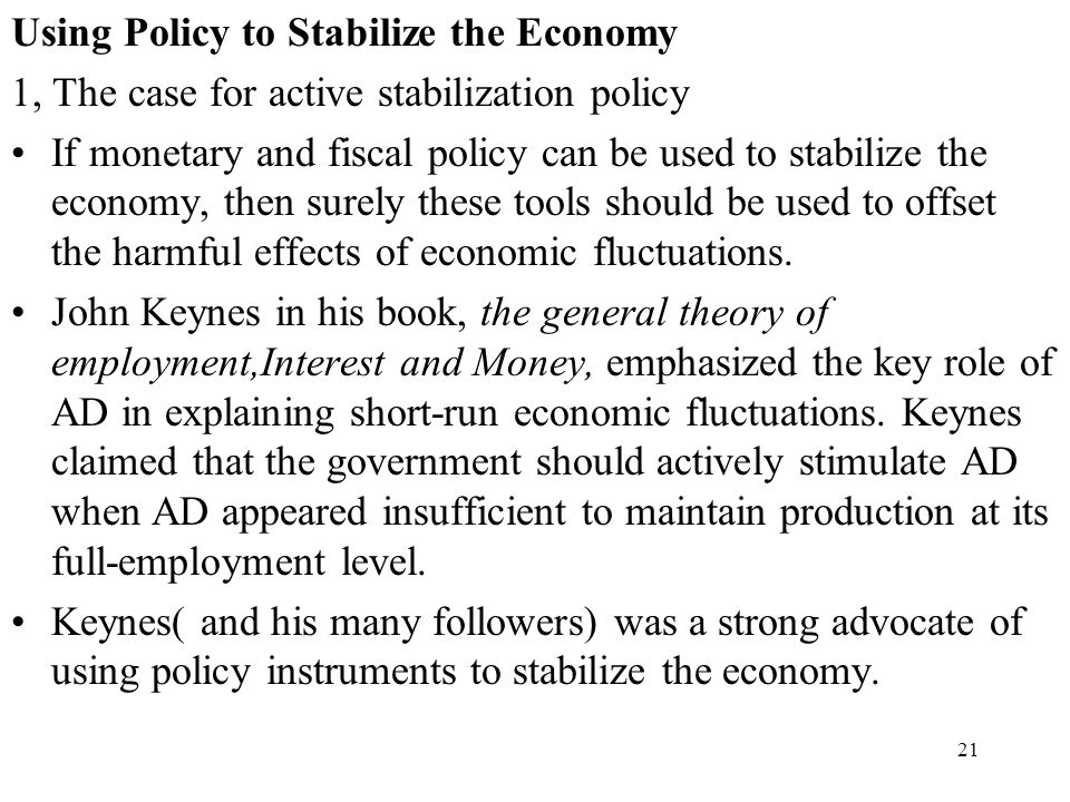what fiscal policy tools could be used to stimulate the economy How can we use fiscal policies to stabilise the economy  fiscal policy has a stabilizing effect on an economy if the budget  of the fiscal policy and.