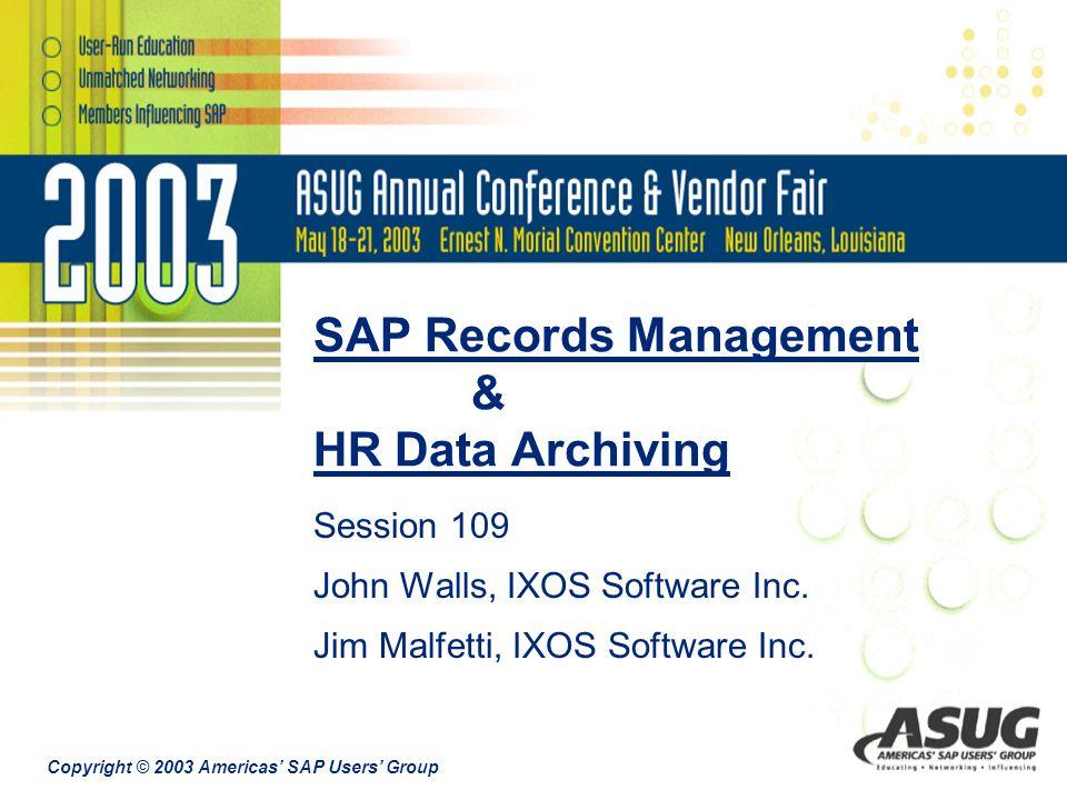 SAP Records Management & HR Data Archiving