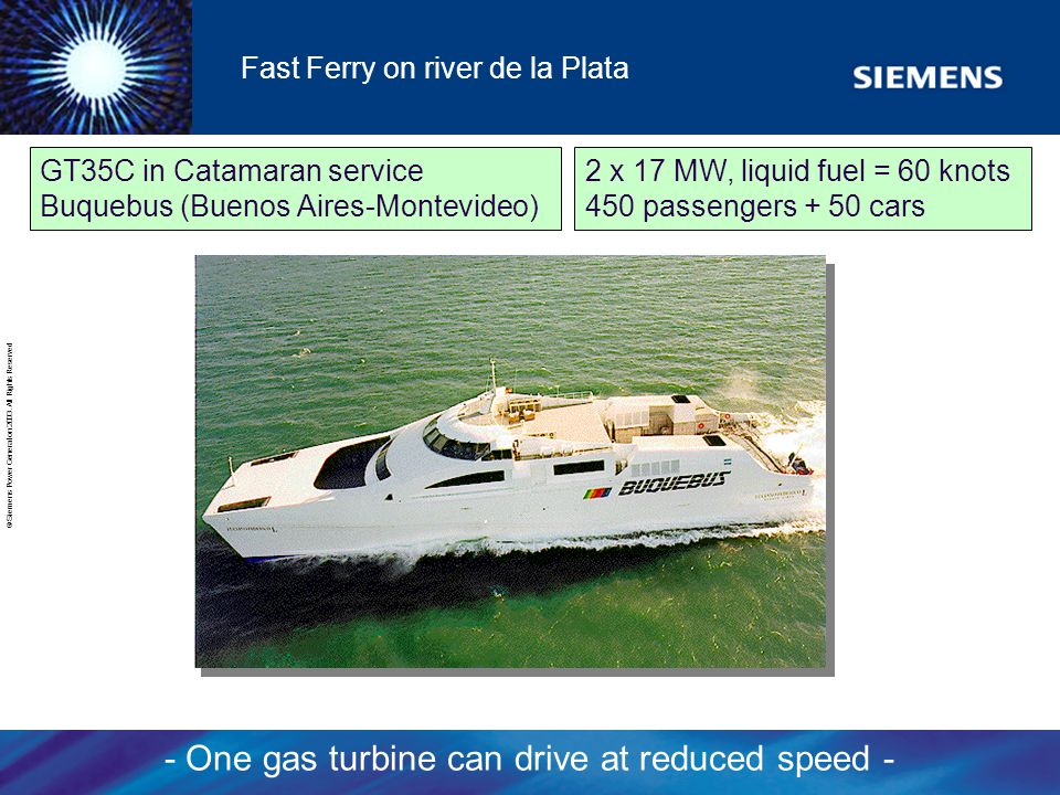 Fast Ferry on river de la Plata
