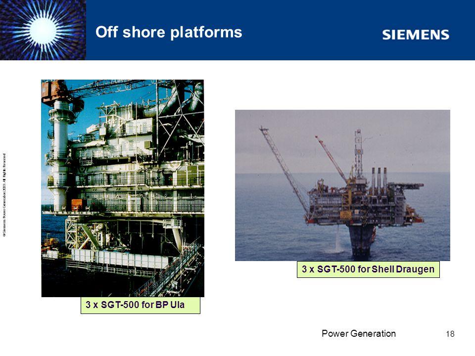 Off shore platforms 3 x SGT-500 for Shell Draugen