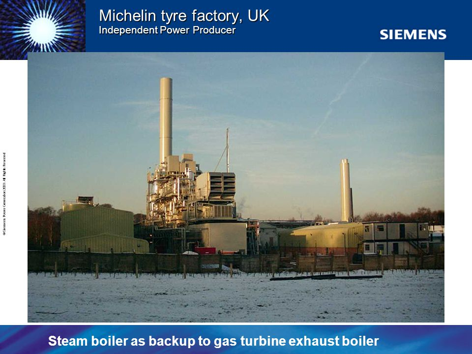 Michelin tyre factory, UK Independent Power Producer