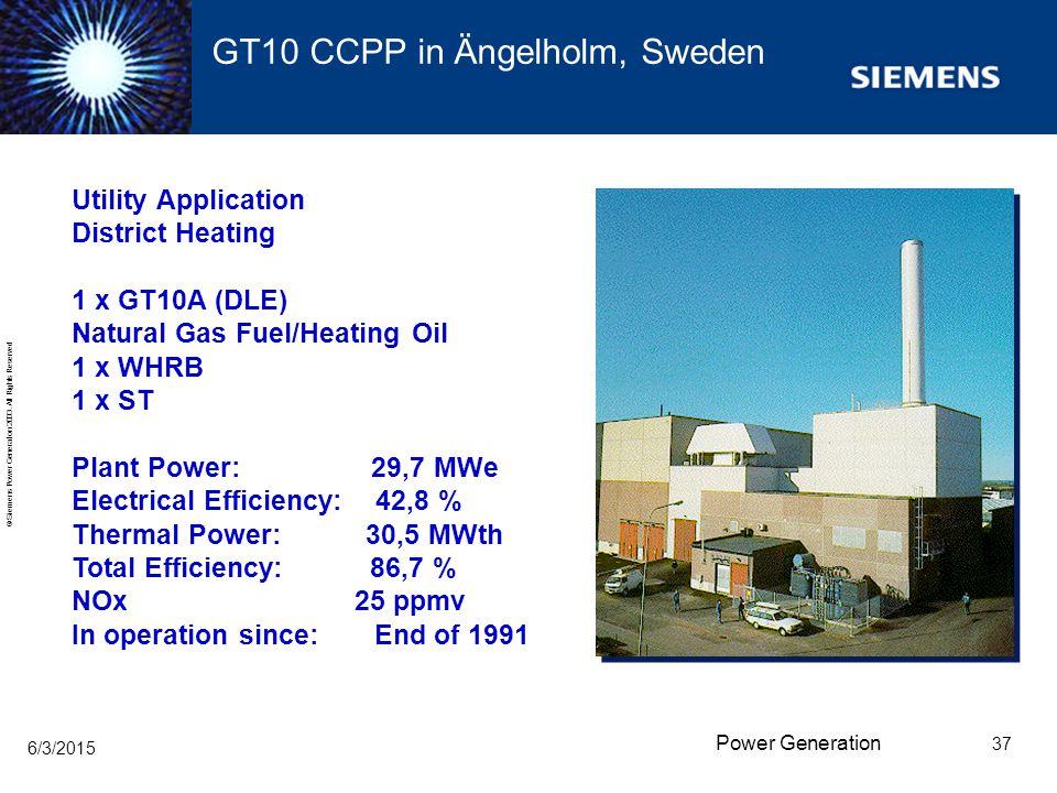 GT10 CCPP in Ängelholm, Sweden