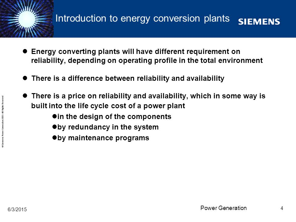 Introduction to energy conversion plants