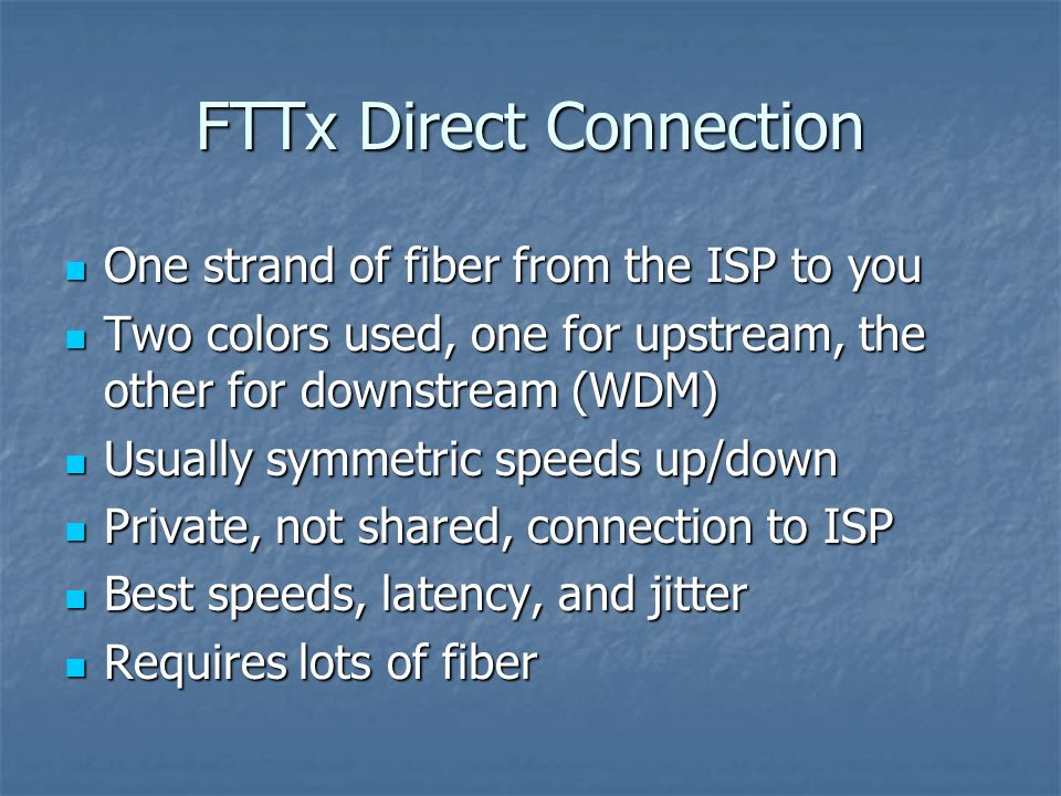 FTTx Direct Connection