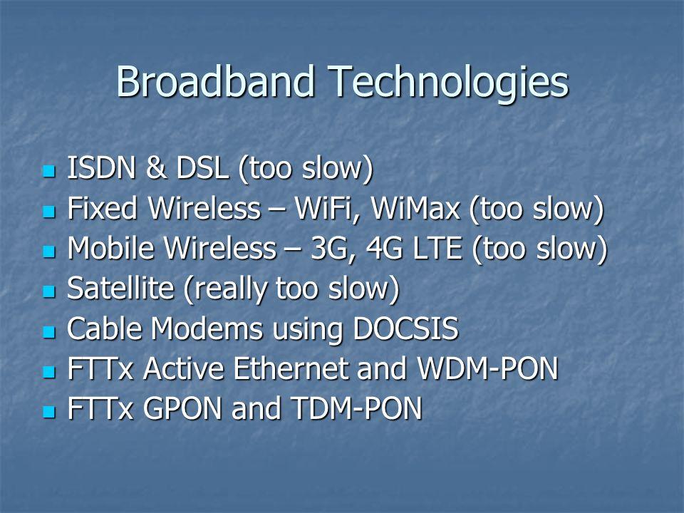Broadband Technologies