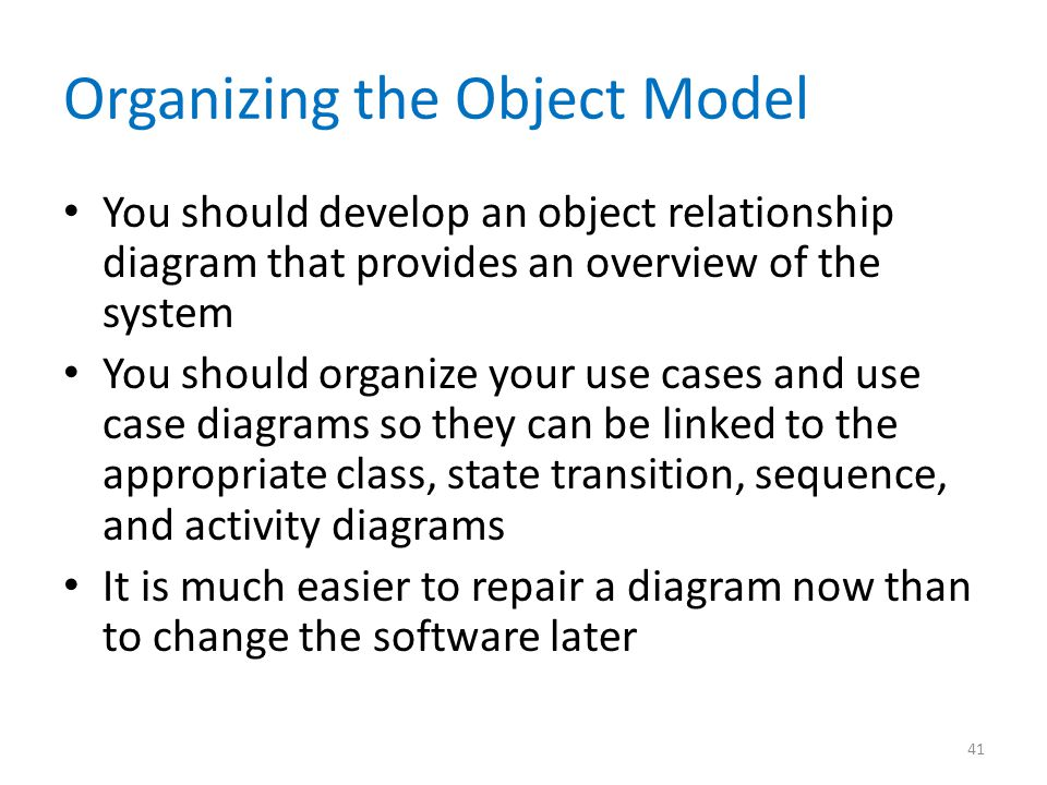 Organizing the Object Model