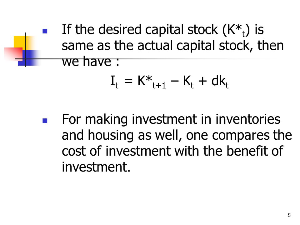 If the desired capital stock (K