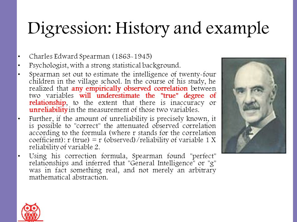 an introduction to charles spearmans theory on general intelligence Keywords: slodr, incremental validity, chc, general intelligence 1  introduction  of his cousin karl pearson, british statistician charles spearman  proposed the first unified psychometric theory of cognitive abilities with the  publication of the.