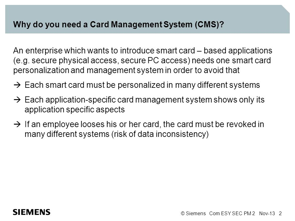Why do you need a Card Management System (CMS)