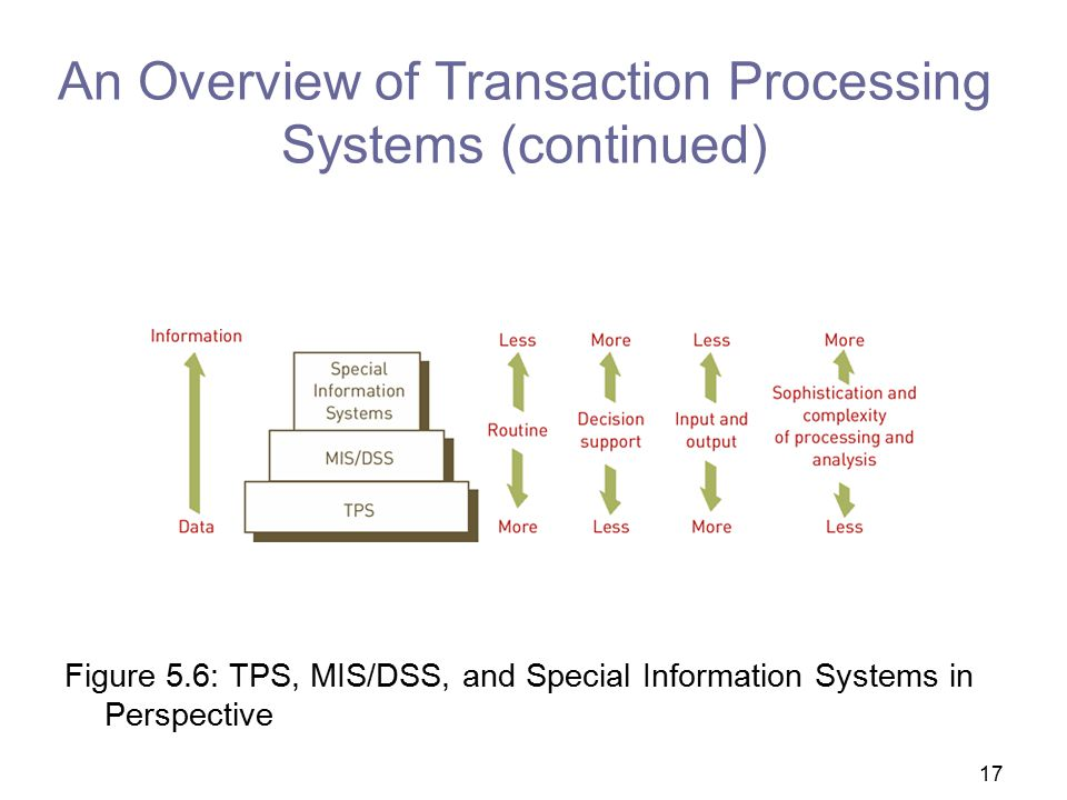An Overview of Transaction Processing Systems (continued)