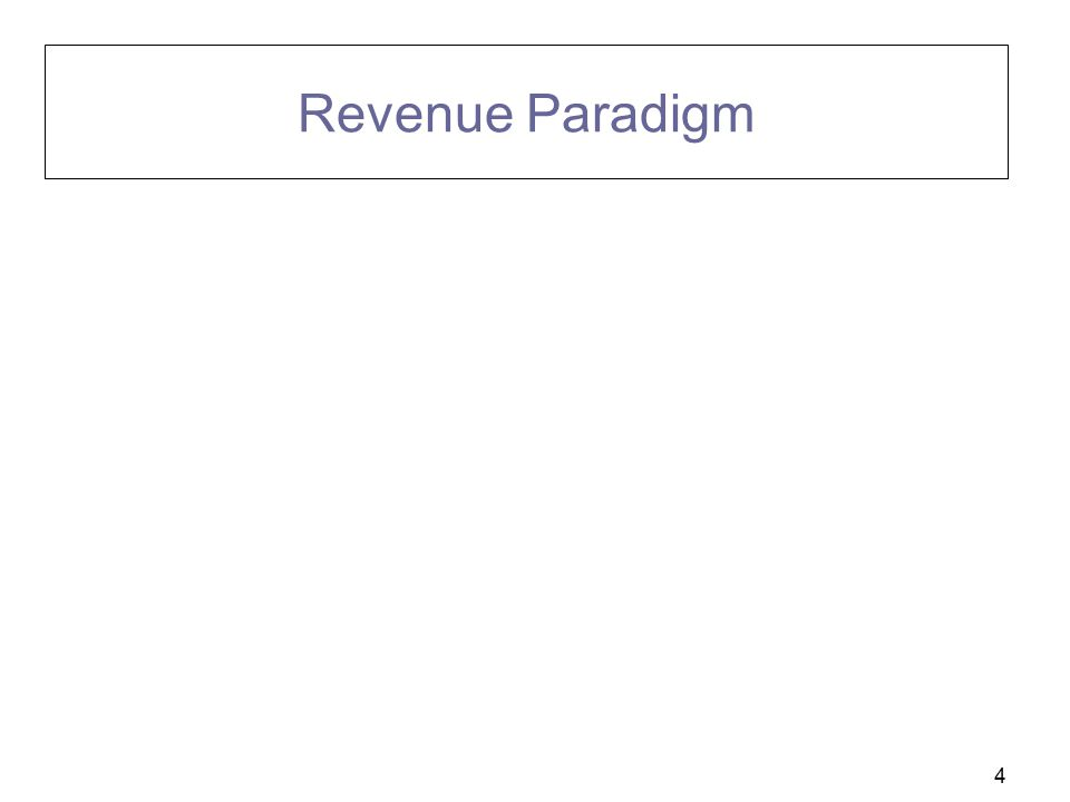 Revenue Paradigm