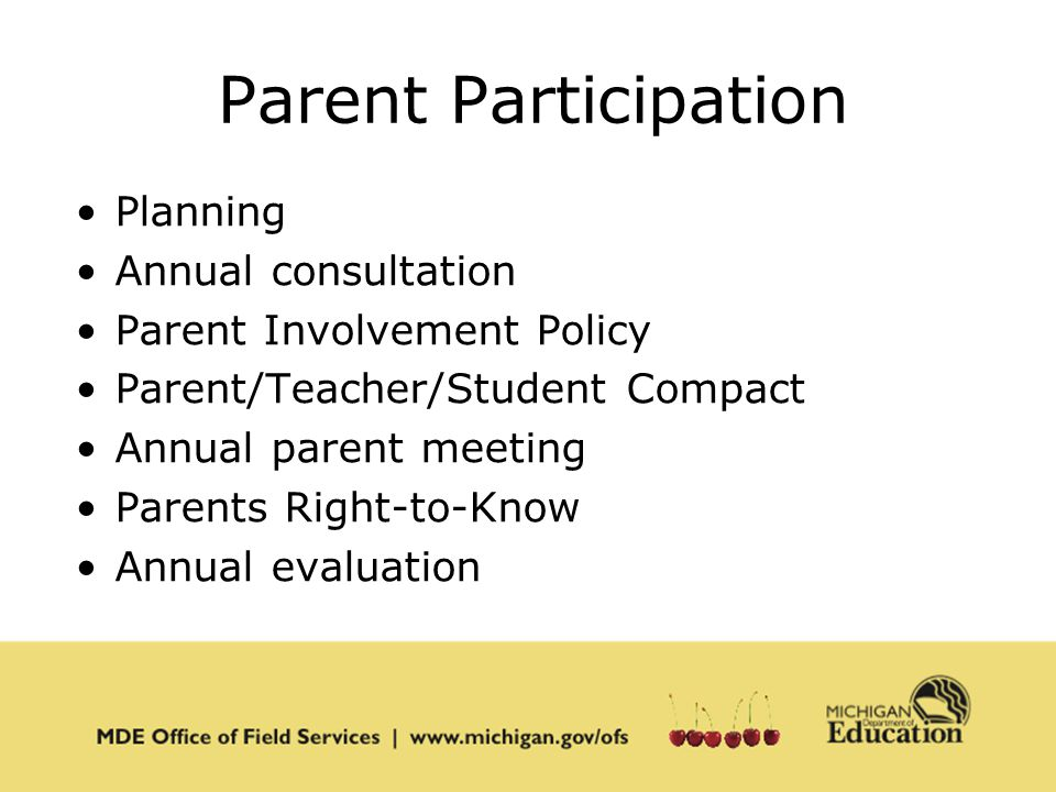 Office of field services ppt download for Parent involvement plan template