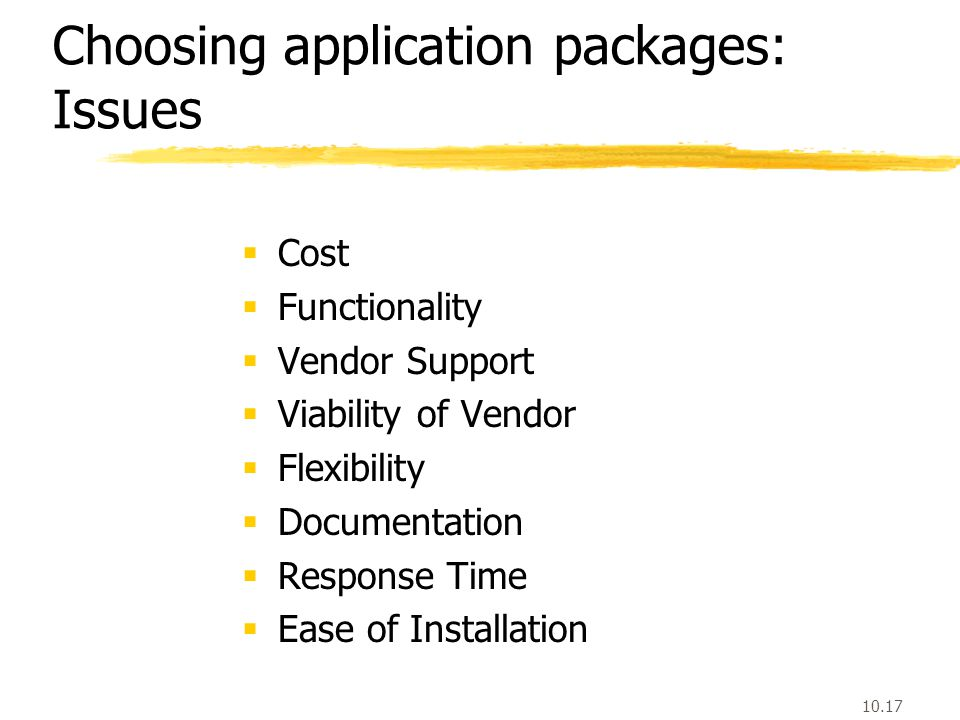 application software packages advantages and disadvantages