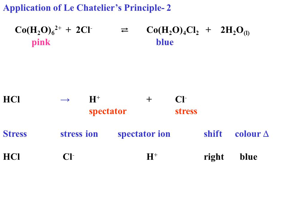Applied le chatelieir 39 s principle lesson ppt video online for Le stress