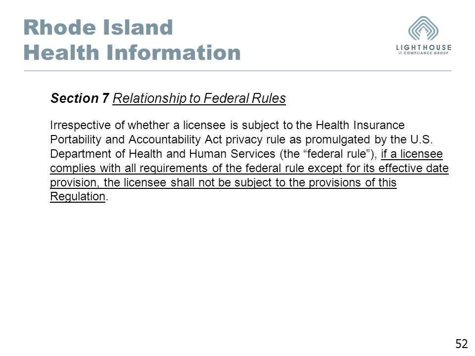 Rhode Island Department Of Insurance Regulations