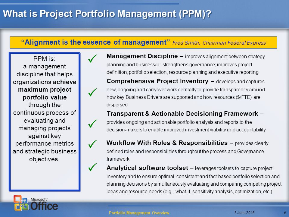 A Portfolio Management Case Study