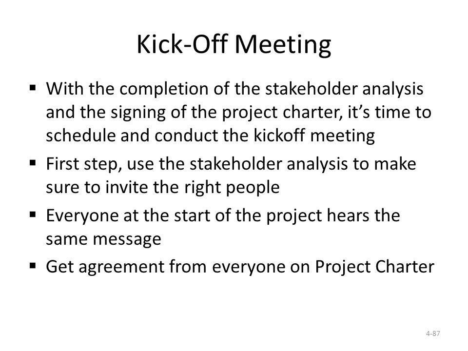 Ch 4 project initiation ppt download 87 kick off meeting stopboris Gallery