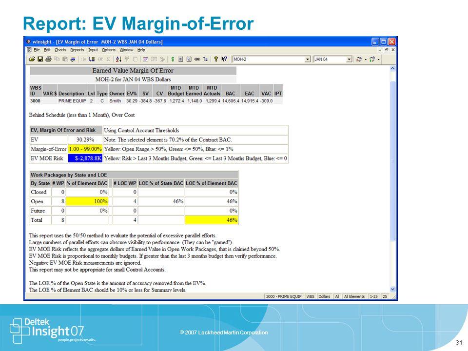 Report: EV Margin-of-Error