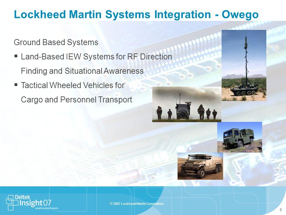 Lockheed Martin Systems Integration - Owego