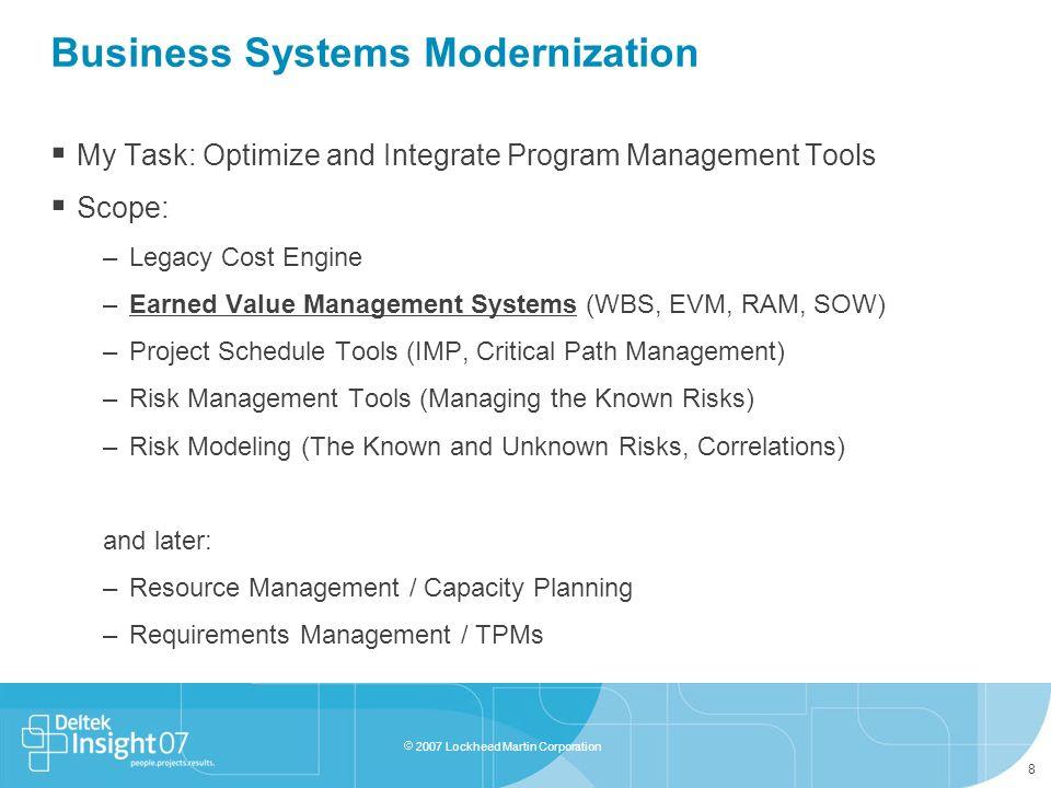 Business Systems Modernization
