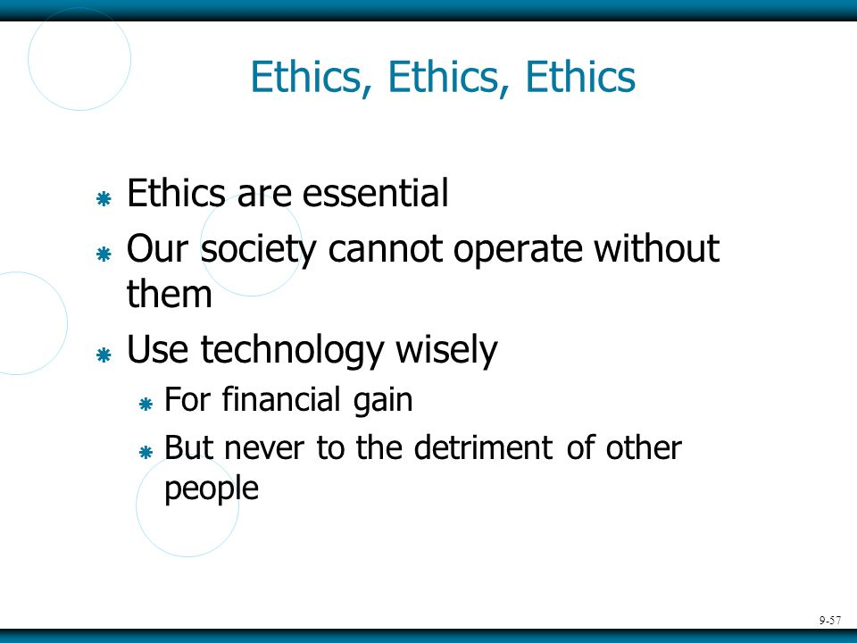An introduction to the business ethics in our society