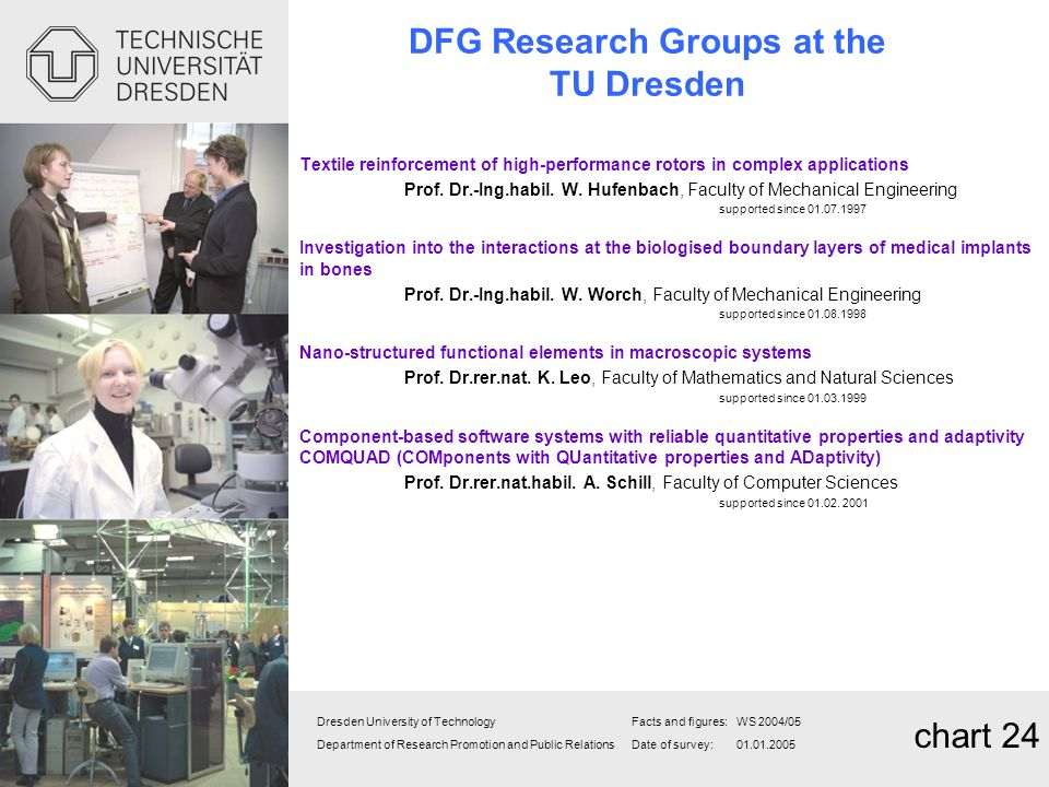 DFG Research Groups at the TU Dresden