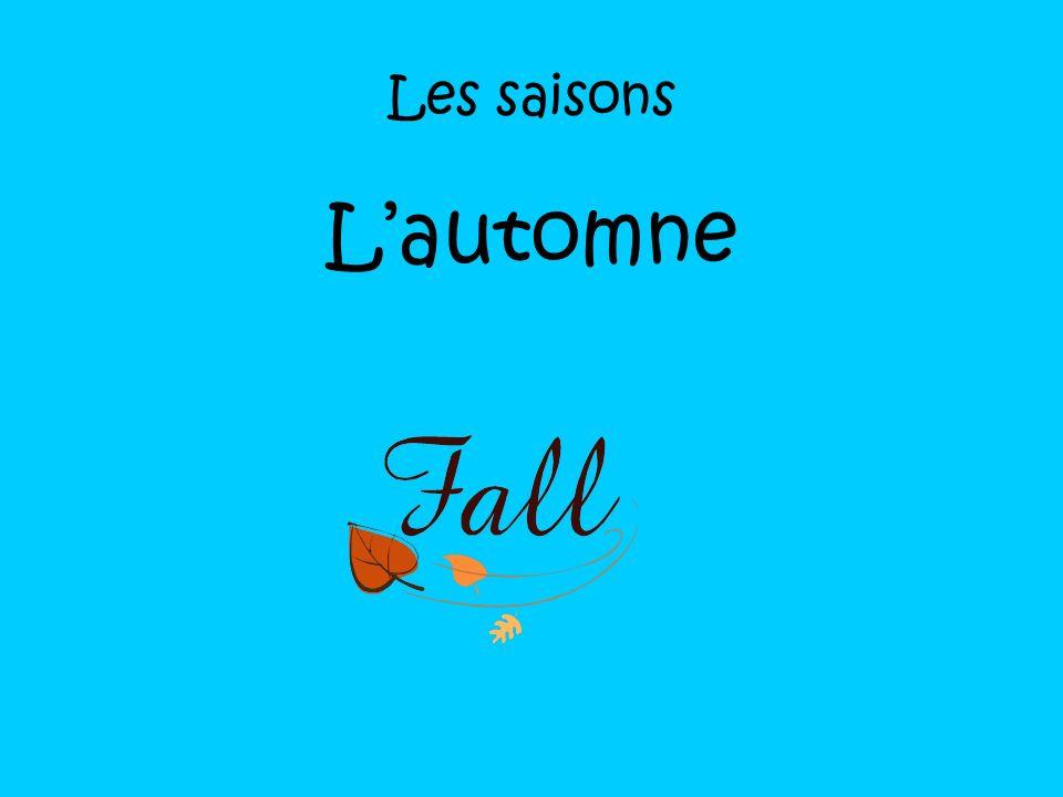 Les saisons L'automne